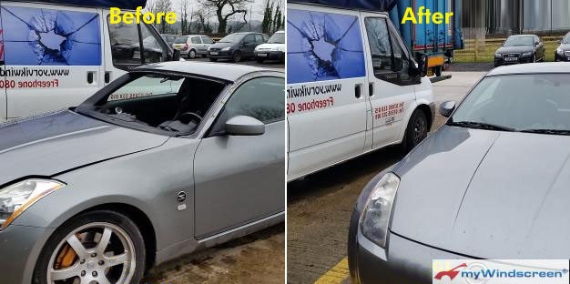 Nissan 350z Windscreen Replacement in Easingwold, North Yorkshire
