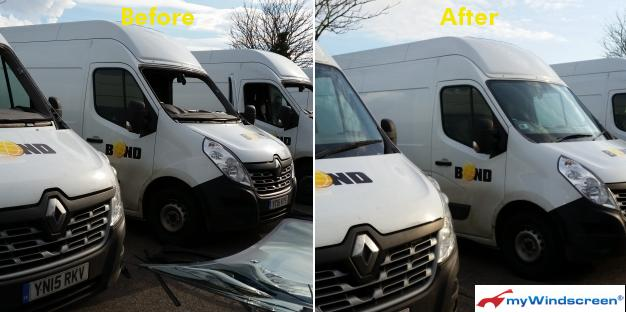 Renault Van Windscreen Replacement in Chepstow, Wales