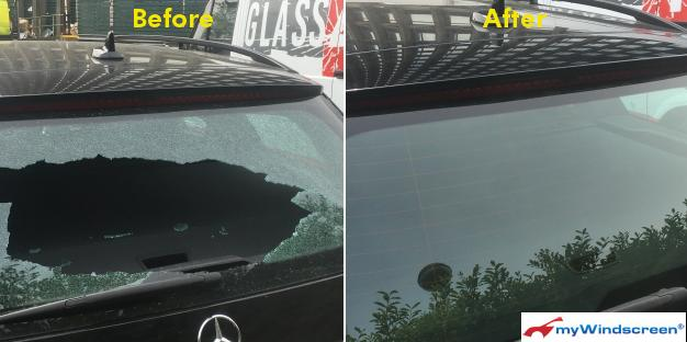 Mercedes Rear Screen Replacement in Wembley, London