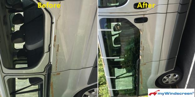 Renault Traffic Side Window Replacement in Bath