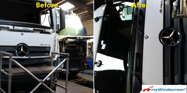 Mercedes HGV Windscreen Replacement in Deri, Caerphilly